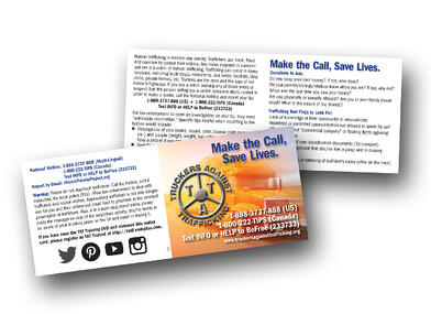 Truckers Against Trafficking Wallet cards