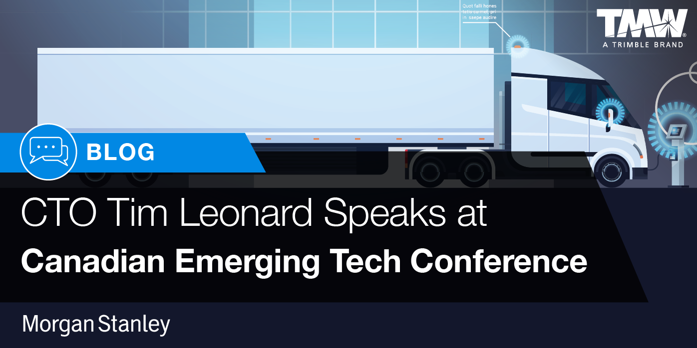 Tim Leonard Speaks at Canadian Emerging Technology Panel to discuss the Future of Transportation
